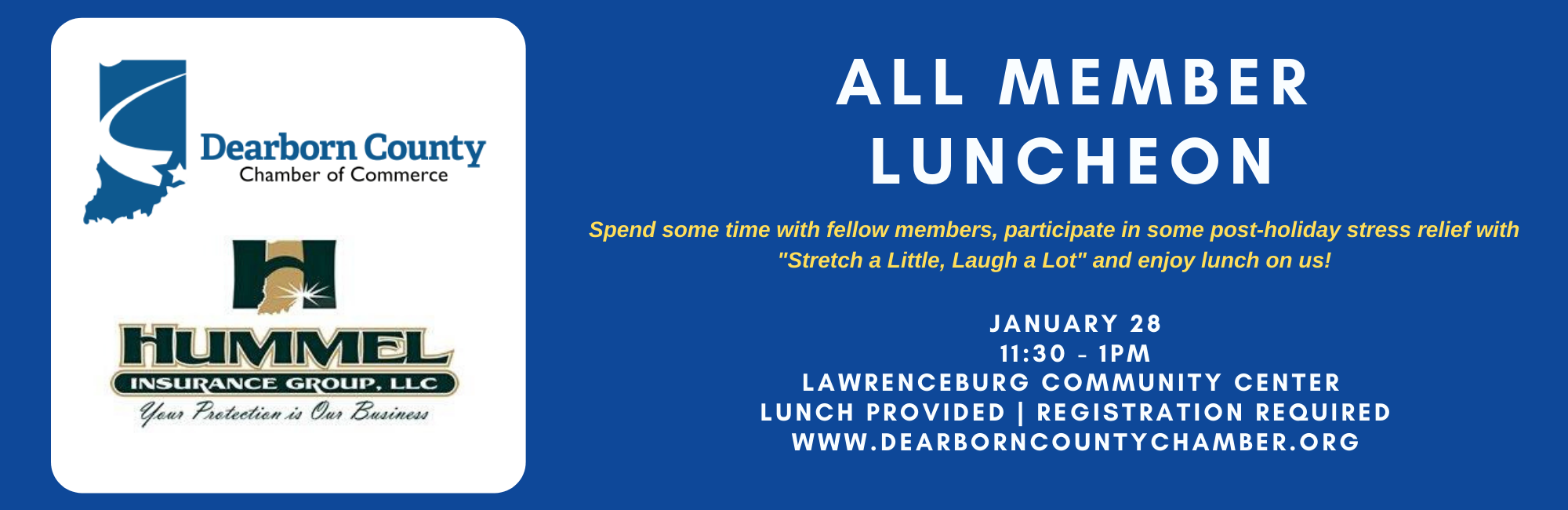 All Member Luncheon presented by Hummel Insurance